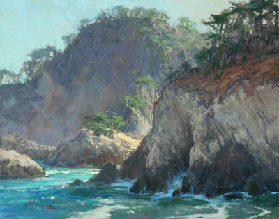 "Kim Lordier - Cypress Cove, Pt. Lobos"" - Pastel on Archival Board - 11 x 14"