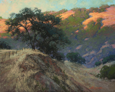 Kim Lordier - Hills of Gold - Pastel on Archival Board - 13 x 16