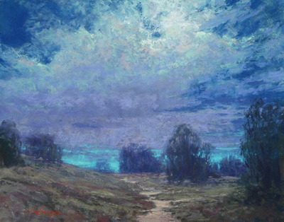 Kim Lordier - In Search of the Moon - Pastel on Archival Board - 11 x 14