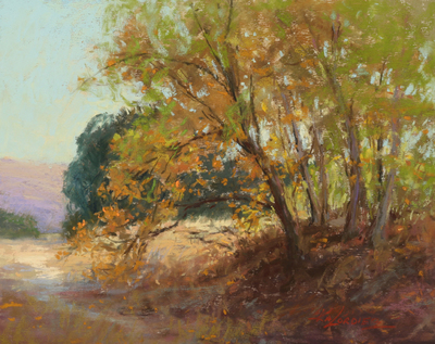 Kim Lordier - Autumn Days - Pastel on Archival Board - 8 x 10