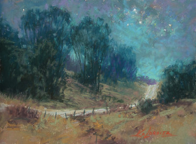 Kim Lordier - In the Small Hours - Pastel on Archival Board - 6 x 8