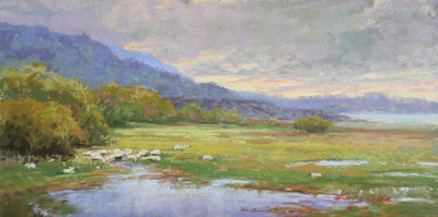 Kim Lordier - Mission Ranch After the Rains - Pastel on Archival Board - 6 x 12