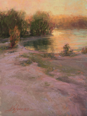 Kim Lordier - Sultry Evening - Pastel on Archival Board - 8 x 6