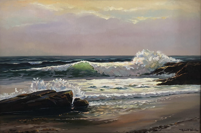 Title: Incoming Fog, Laguna Beach , Date: c. 1960's , Size: 24 x 36 , Medium: Oil on Canvas , Price: $5,500