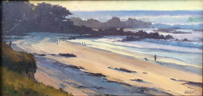 Title: Carmel Point Surf , Date: 2018 , Size: 10 x 20 , Medium: Oil on Canvas/Board , Price: $2,500