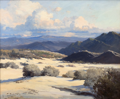 Title: California Desert , Date: 1944 , Size: 25 x 30 , Medium: Oil on Canvas