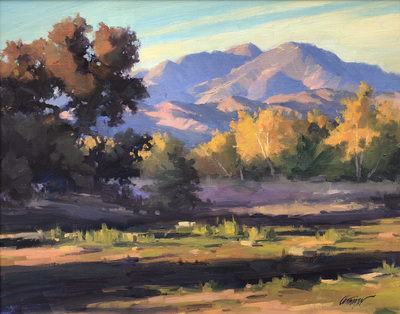 Title: Autumn Light , Date: 2002 , Size: 16 x 20 , Medium: Oil on Canvas/Board , Price: $2,900