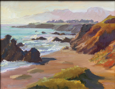 Title: Bodega Bay , Date: c. 2001 , Size: 11 x 14 , Medium: Oil on Canvas , Price: $2,500