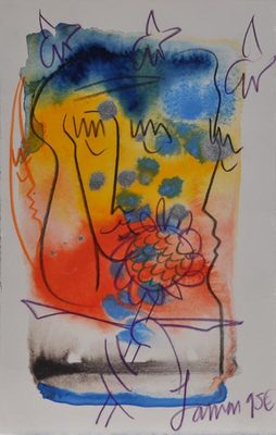 Title: 210W , Date: 1995 , Size: 10 1/2 x 6 1/2 , Medium: Mixed Media on Paper