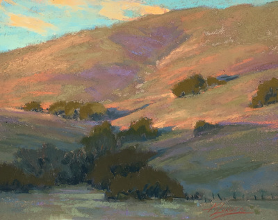 Title: Hills of Salinas , Date: 2008 , Size: 8.25 x 10.25 , Medium: Pastel on Archival Board , Price: $2,250