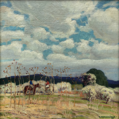 Title: Springtime on the Reservation , Date: c. 1918 , Size: 14