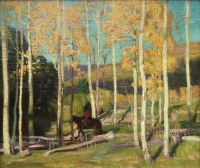 Title: Autumn on the Reservation , Date: c. 1918 , Size: 12