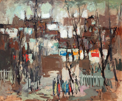 Title: Narbonne, France , Date: c. 1960's , Size: 30 x 36.25 , Medium: Oil on Canvas , Price: $32,000