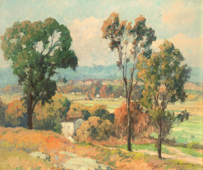 Title: East of San Diego , Date: c. 1920's , Size: 20 x 24 , Medium: Oil on Canvas