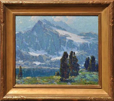 Title: Sierra Lake , Date: c. 1920's , Size: 20 x 24 , Medium: Oil on Canvas