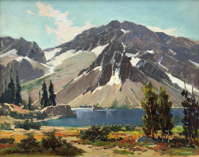 Title: Sketch - Lake Ellery - Tioga Pass , Date: c. 1920's , Size: 16 x 20 , Medium: Oil on Canvas , Price: $14,500