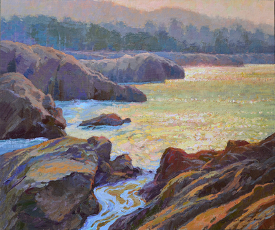 Title: Morning Hour, Point Lobos , Date: 2019 , Size: 20 x 24 , Medium: Oil on Linen Board , Price: $2,750