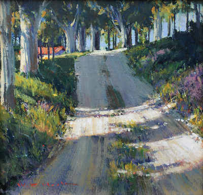 Title: Old Molera Road #3947 , Size: 12 x 12 , Medium: Acrylic on Canvas/Board , Price: $3,200