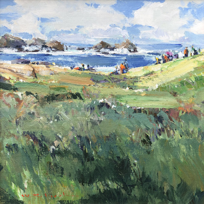 Title: Expo Paint Out, Point Lobos #3786 , Size: 12 x 12 , Medium: Acrylic on Canvas/Board , Price: $3,200