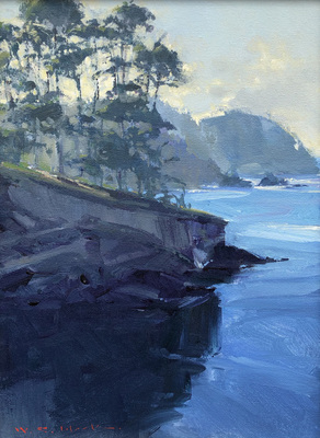 Title: Whaler's Cove, Pt. Lobos #4047 , Size: 16 x 12 , Medium: Acrylic on Canvas , Price: $3,900