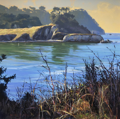 Title: Whaler's Cove, Pt. Lobos #4059 , Size: 30 x 30 , Medium: Acrylic on Canvas , Price: $15,000