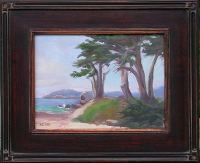 Title: Cypress at Monastery , Date: 2008 , Size: 9 x 12 , Medium: Oil on Canvas/Board