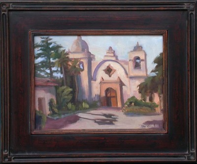 Title: Carmel Mission , Date: 2008 , Size: 9 x 12 , Medium: Oil on Canvas/Board