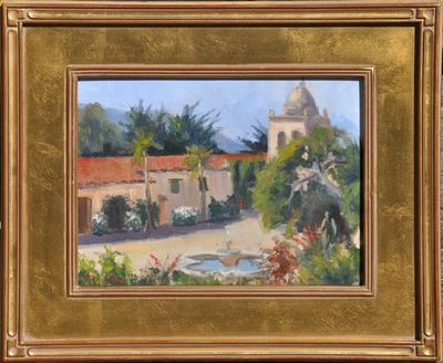Title: Morning at the Mission , Date: 2009 , Size: 9 x 12 , Medium: Oil on Board