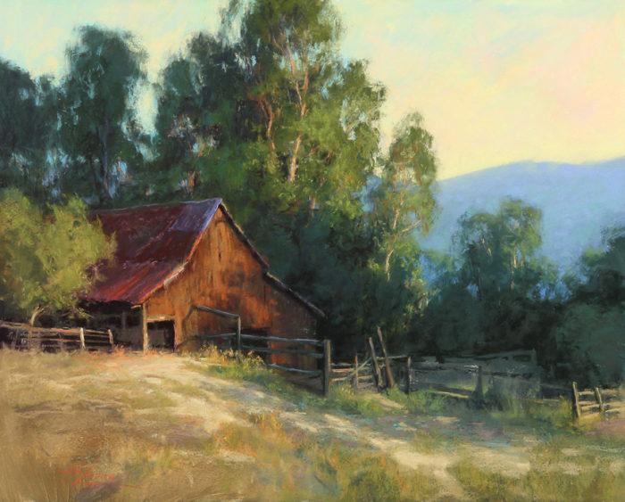 "Kim Lordier ""Nestled In, Santa Teresa Hills"" 24x30 Pastel"